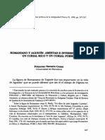 Romaniano y Agustín. Amistad e Intereses Entre Un Curial Rico y Un Curial Pobre (Francesc Navarro Coma)