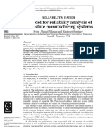 A Model for Reliability Analysis of Multi-state Manufacturing Systems