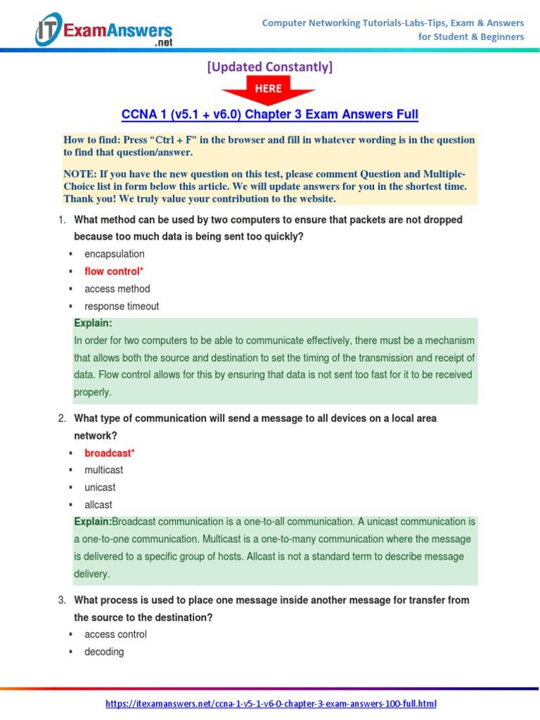 ccna 1 v5 1 v6 0 chapter 3 exam answers 2017 100 full rh scribd com CCNA Practice Test Exam Cram CCNA Study Guide