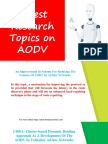 Latest Research Topics on AODV