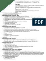 Struktur Organisasi Kelas Dan Tugasnya