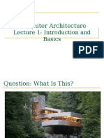 Lecture1 Intro Computer Architecture