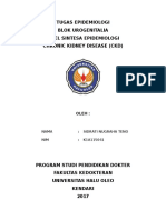Tabel Sintesa Epidemiologi (Penyakit Ginjal Kronik)  K1A115041