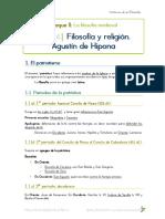 FILOSOFÍA - T4. Filosofía y Religión. Agustín de Hipona