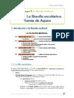 FILOSOFÍA - T5. La Filosofía Escolástica. Tomás de Aquino