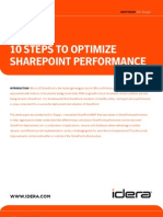 10 Steps Optimize Share Point Performance