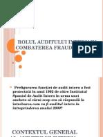 Rolul Auditului Intern in Combaterea Fraudelor