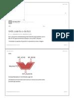 VHDL code for 4-bit ALU