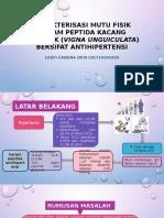 Karakterisasi Mutu Fisik Garam Peptida Kacang Tunggak (