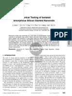 Mechanical Testing of Isolated Amorphous Silicon Slanted Nanorods