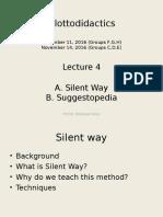 Shpresa Lecture 4 Glottodidactics Silent Way & Syggestopedia November 2016