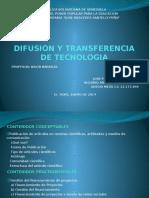 Difusion y Transferencia de Tecnologia