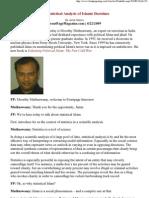 Stastical Analysis of Islamic Doctrines