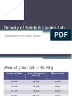 Density of Solids and Liquids