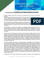 Defensa de la candidatura para presidir el PP de Oviedo