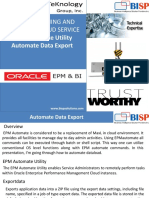 Planning and Budgeting Cloud Service EPM Automate Data Export
