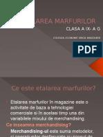 ETALAREA MARFURILOR