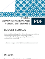 Fiscal Administration and Public Enterprise