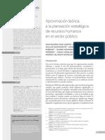 Aproximación Teórica a La Planeación Estratégica de Recursos Humanos en El Sector Público