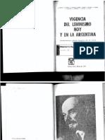 1969. Ghioldi y Otros. Vigencia Del Leninismo Hoy y en La Argentinaargentina