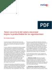 Tomar consciencia del salario emocional mejora la productividad de las organizaciones