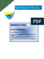 Model Marketing MBA MSc