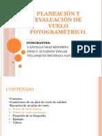 Planeaciòn y Evaluaciòn de Vuelo Fotogramètrico
