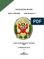 Manual Organizacion y Funciones Comisaria Pnp Salas 1