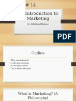 An Introduction to Marketing