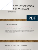 Case Study of Coca Cola in Vietnam (presentation)
