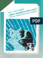 Thomas Nagel Que significa todo esto- Una brevisima introduccion a la filosofia  .pdf