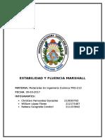 Estabilidad y Fluencia Marshall