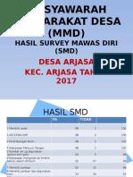 Hasil Survey Mawas Diri (Smd) Arjasa