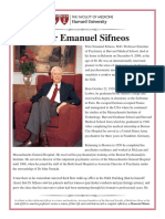 Memorial minute Sifneos Peter Emanuel