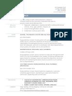 e-portfolio resume