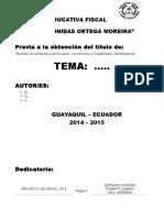 Proyecto bachillerato l.o.m