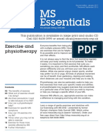 Exercise and Physiotherapy for MS