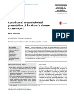 Parkinsons Case Report IJOM
