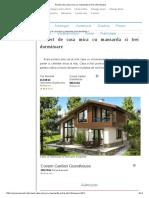 Proiect de Casa Mica Cu Mansarda Si Trei Dormitoare
