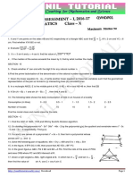 10th Maths 2016-17 Real Sa-1 Question Paper-11