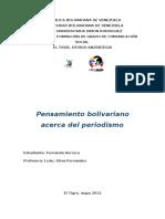 Bolívar y El Periodismo