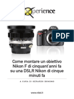Montare Un Obiettivo Nikon F Su Una DSLr Nikon Bonomo
