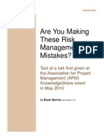 Top Ten Risk Management Mistakes