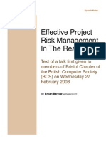 Risk Management in the Real World