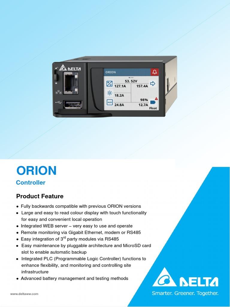 Factsheet TPS Controllers ORION Touch En | Programmable