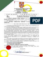 Informe Conductual Quimestral MATRIZ