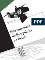 Sete Teses Sobre Mídia e Política No Brasil