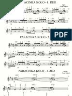 Paracinka Kolo- Note Za Harmoniku
