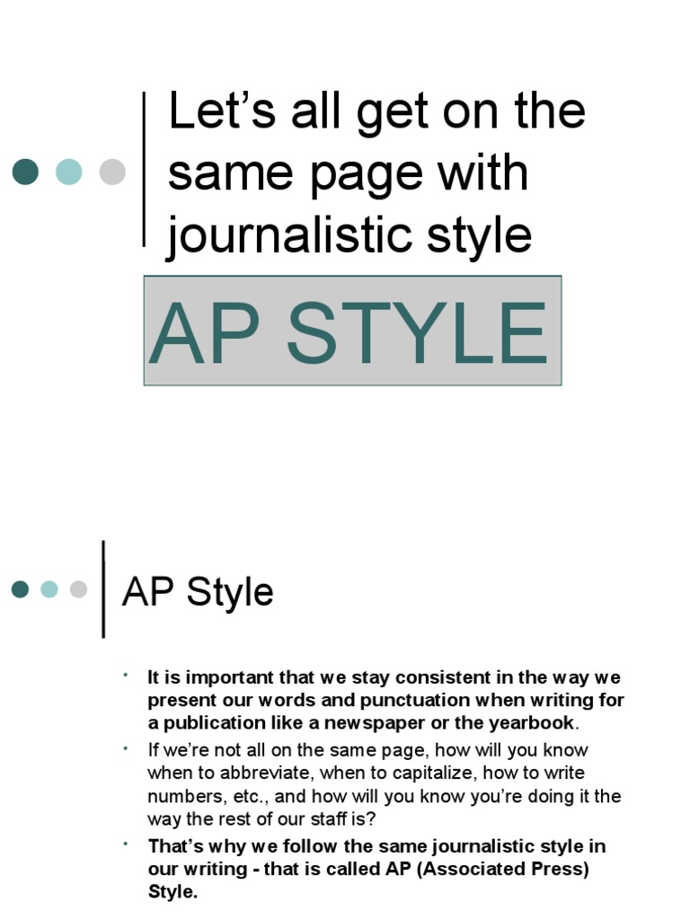 What is the journalistic style