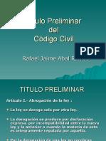 Titulo Preliminar Código Civil